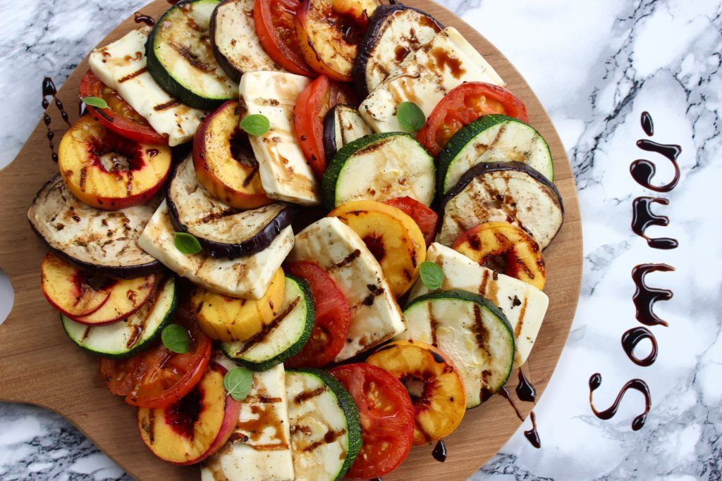 grill salat med nektariner