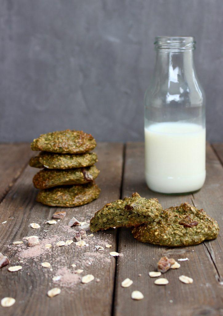 Sunde cookies med spinat