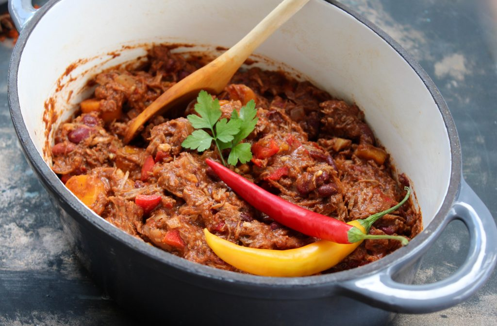 Chili con carne oksekød