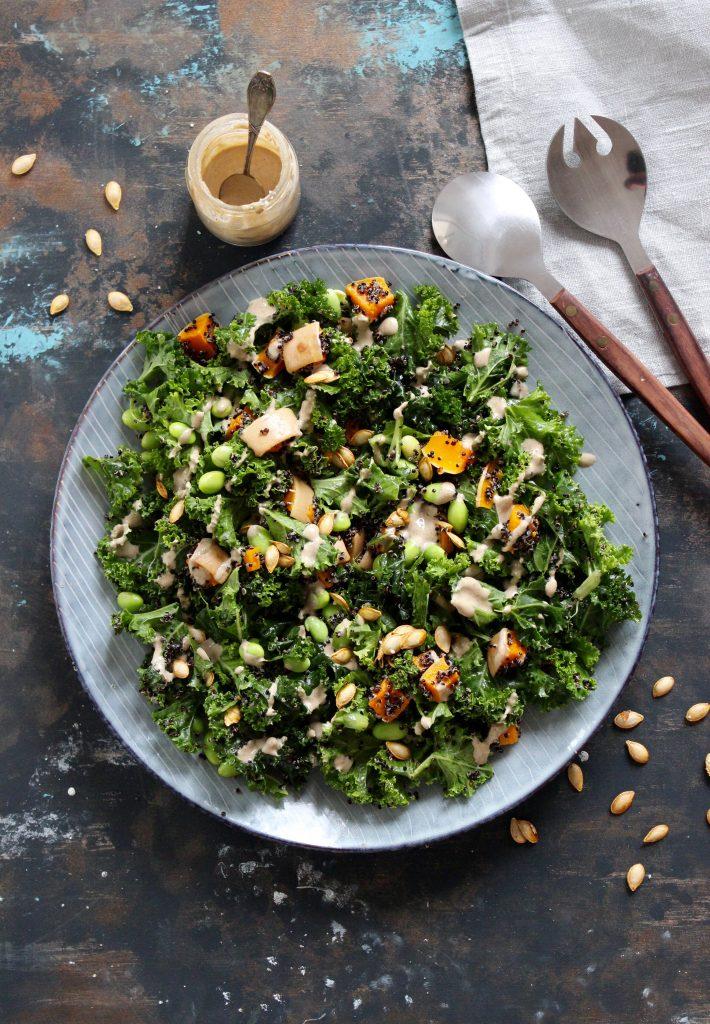 Grønkålssalat med quinoa