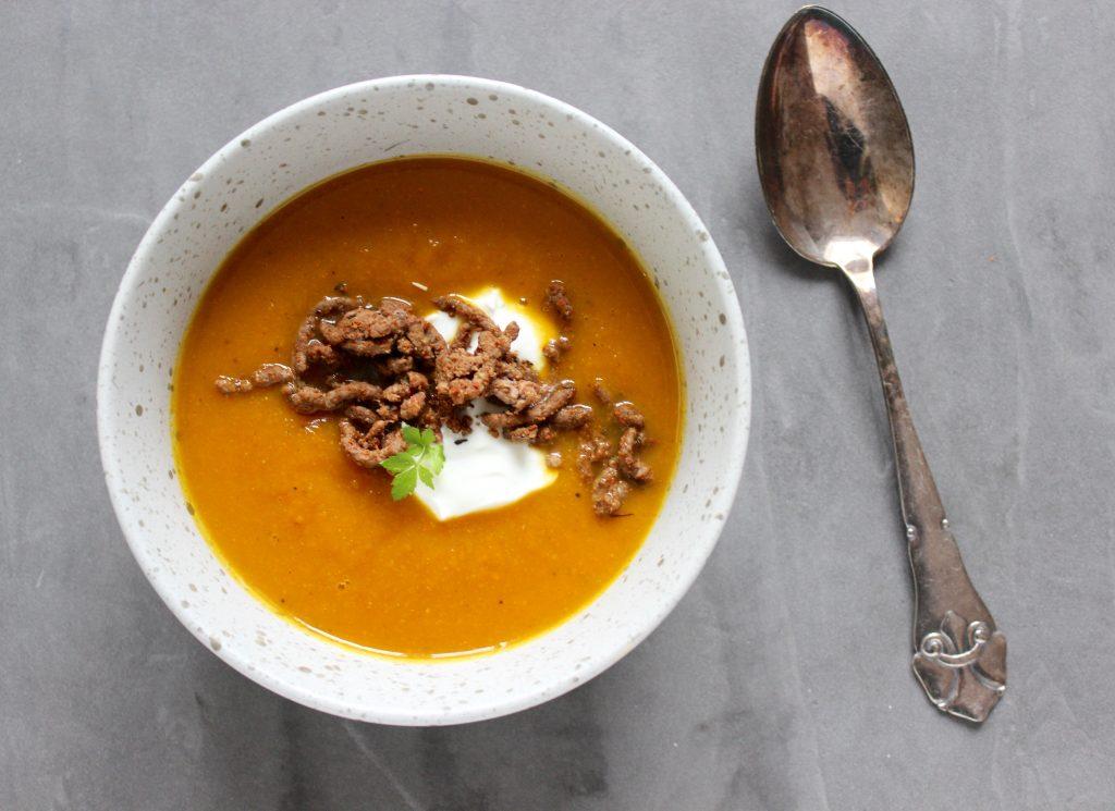 Hokkaido græskar suppe