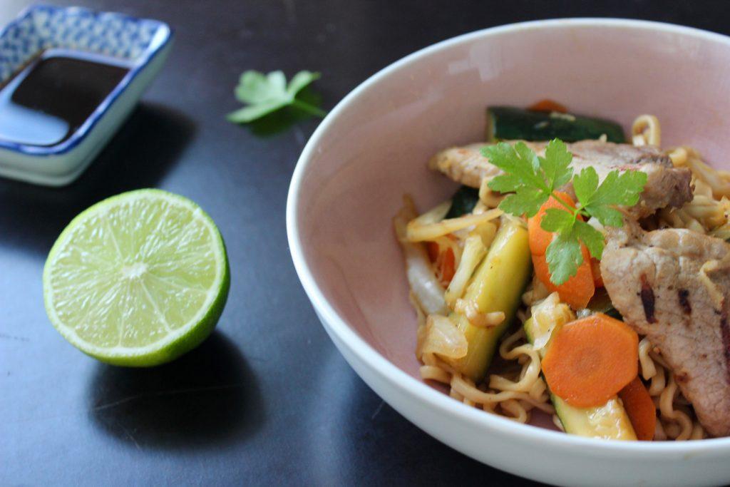 Thai wok med svin
