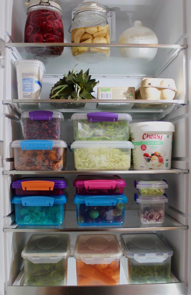 Spis flere grøntsager køleskab
