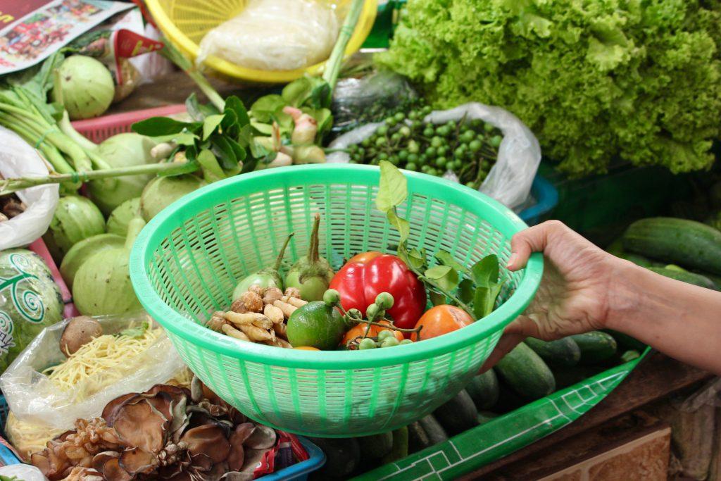 Grøntsagsmarked Thailand