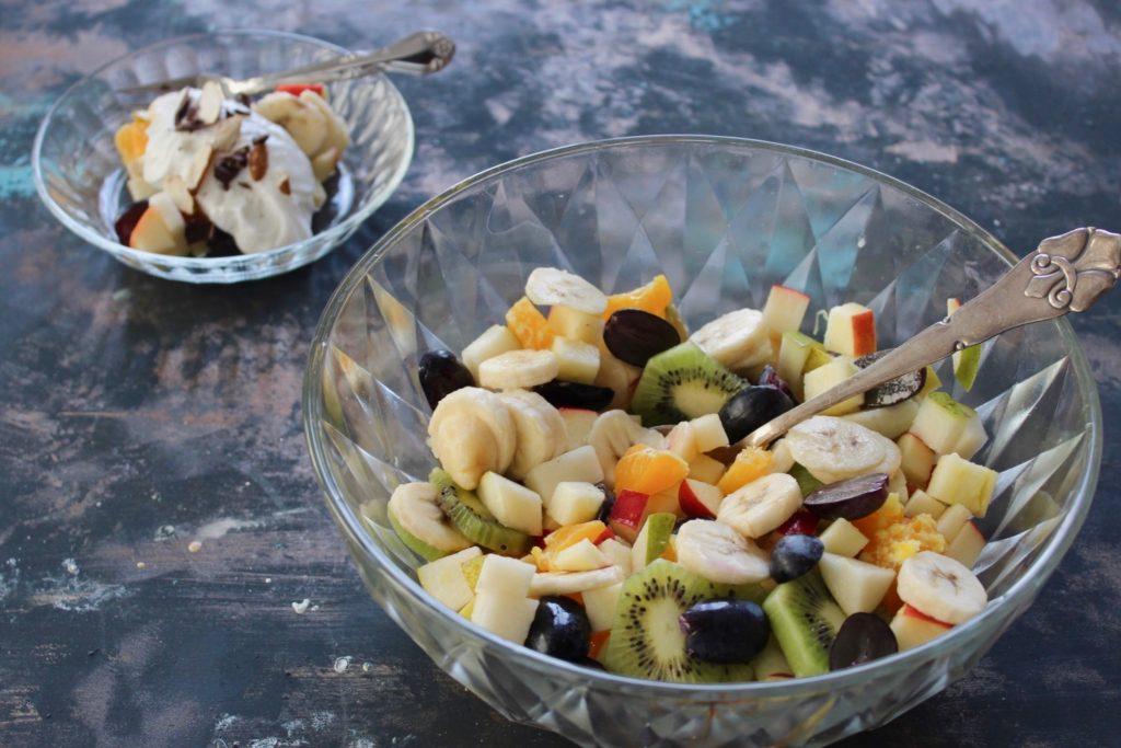 Frugtsalat vaniljeskyr