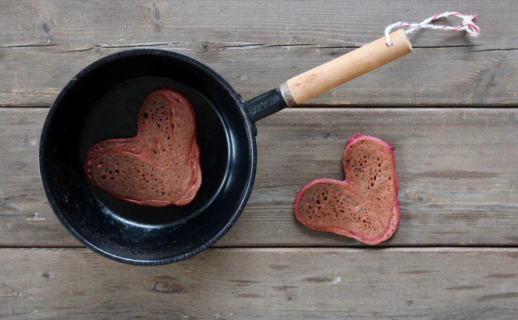 Rødbede pandekager