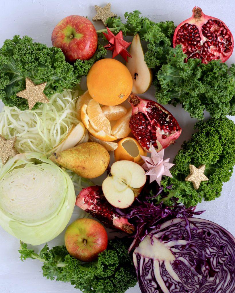 Jule vinter grøntsager