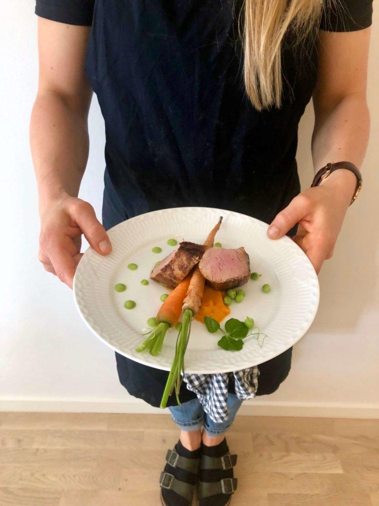 Svinemørbrad gulerod
