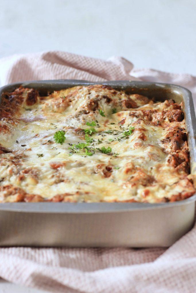 Lasagne med oksekød