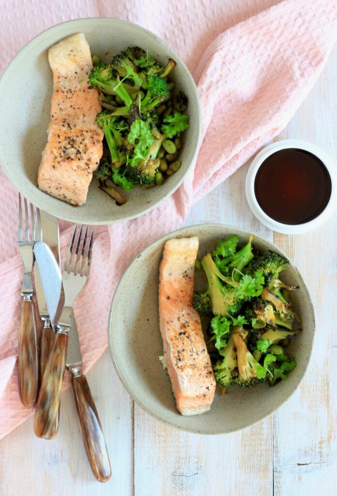 Laks med broccoli