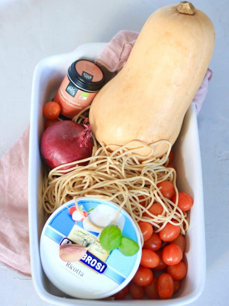 Bagt ricotta spaghetti