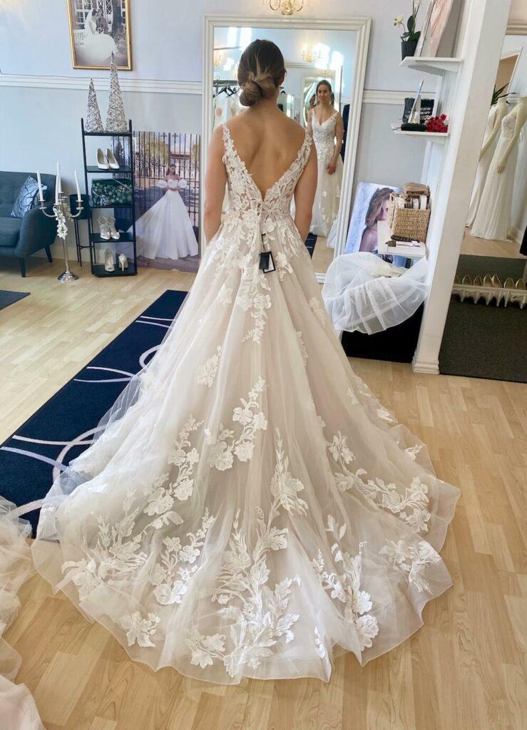 Brudekjole ryg